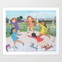 Suzette's Dancers Art Print