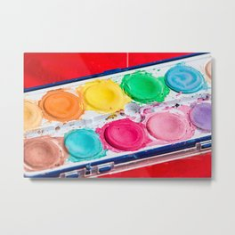 Artist Paint Box Colorful Palette Metal Print