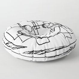 Abstract Smiley Face Floor Pillow