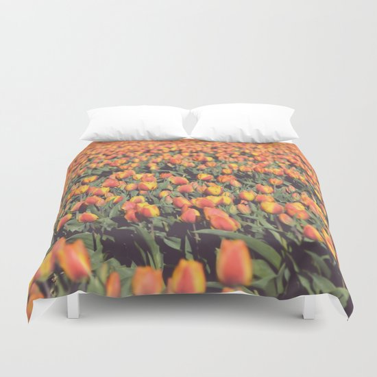 Tulips field #1 Duvet Cover