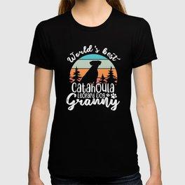 Catahoula Leopard Dog Granny T-shirt