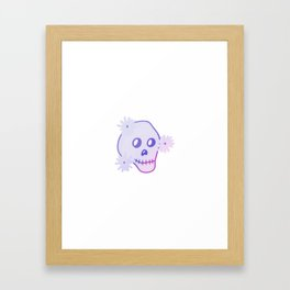 Gradient Skull  Framed Art Print
