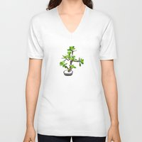 succulent V-neck T-shirts featuring Succulent by Pea Press