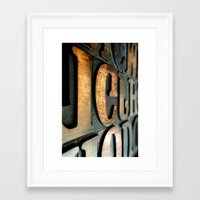 letters Framed Art Prints featuring letters by Sébastien BOUVIER
