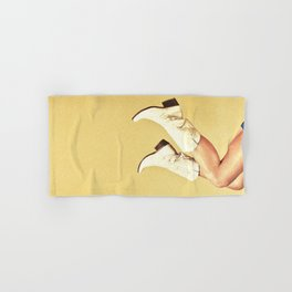 These Boots - Yellow Hand & Bath Towel