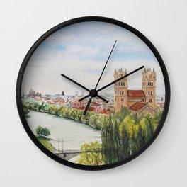 Isar and St. Maximillian Church, Munich Wall Clock