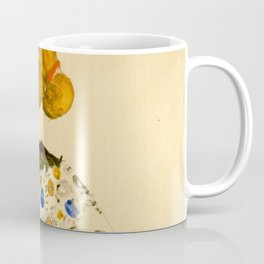 """Egon Schiele """"Standing Woman in a Patterned Blouse"""" Coffee Mug"""
