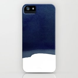 Minimal Navy Blue Abstract 02 Landscape iPhone Case