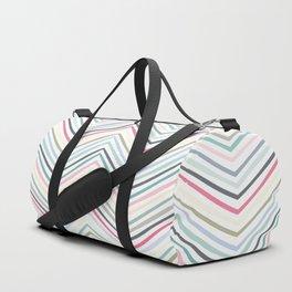 Eve Modern Multicolor Stripe Duffle Bag