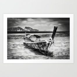 Longboat Thailand Art Print