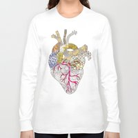 ellie goulding Long Sleeve T-shirts featuring my heart is real by Bianca Green