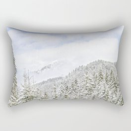 The Mountain Is Playing With Clouds Rectangular Pillow