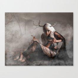 Dryad-tree nymph Canvas Print