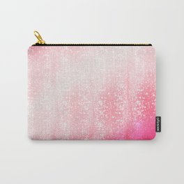 Neon Pink Bokeh Effect Ombre Carry-All Pouch