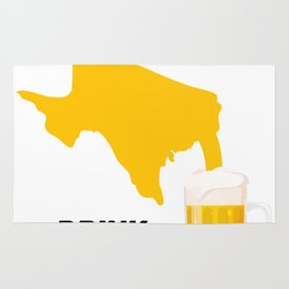 Texas Beer Drinking Team Drink Local Rug