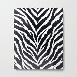 Zebra fur texture Metal Print