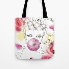 Bubble Birdie Tote Bag