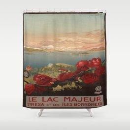 Vintage poster - Le Lac Majeur Shower Curtain