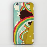 olivia joy iPhone & iPod Skins featuring Happy happy joy joy! by Yetiland