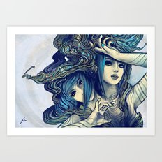 Zodiac Sign: Gemini Art Print