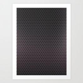 Black & Silver Honeycomb Carbon Fiber Art Print