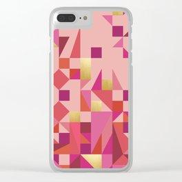 Valentine Quilt Clear iPhone Case