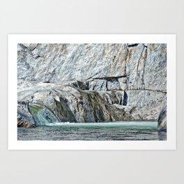 Mad River Plunge Art Print