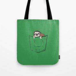 Sloth in a pocket Tote Bag