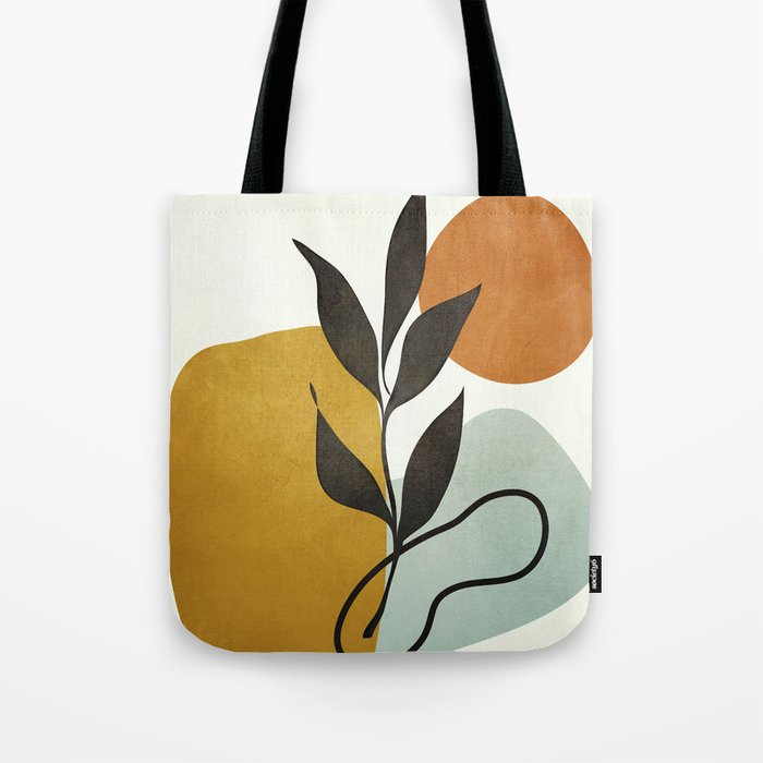 Soft Abstract Small Leaf Tote Bag