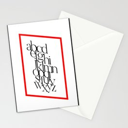 Parallel Alphabet Stationery Cards