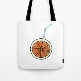 bright orange and cocktail straw Tote Bag