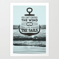 CONTROL THE WIND Art Print
