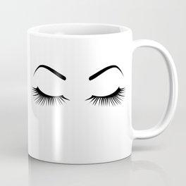 Closed Eyelashes (Both Eyes) Coffee Mug