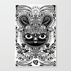 Day Of The Dead Bunny Celebration Canvas Print
