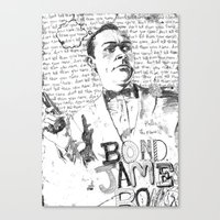 james bond Canvas Prints featuring James Bond by Liam Brazier