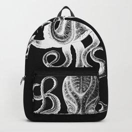 Vintage Octopus Black Backpack