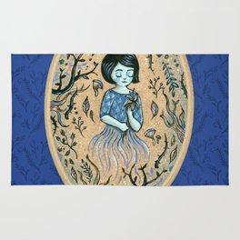 Hidden place - forest girl 2 Rug