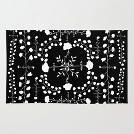 floral gothic Rug