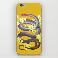 snake iPhone & iPod Skins featuring Snake by The Wildest Little Things