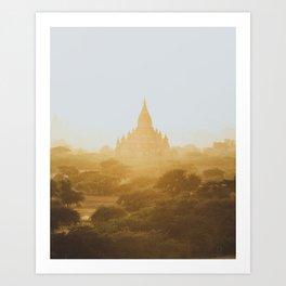 Bagan Temples II Art Print