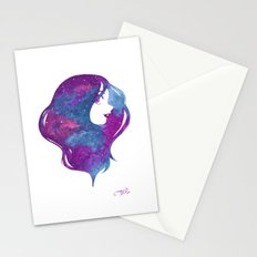 galactic hair Stationery Cards