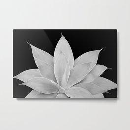 Gray Agave on Black #2 #tropical #decor #art #society6 Metal Print
