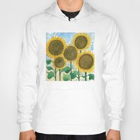 sunflowers Hoodies featuring Sunflowers by Holly Fisher@SpenceCreative