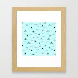 Sharkhead - Shark Pattern Framed Art Print