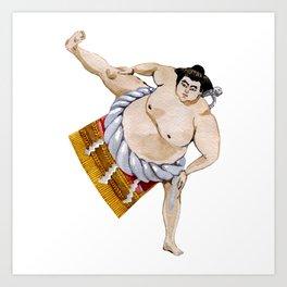 sumo Japan Art Print