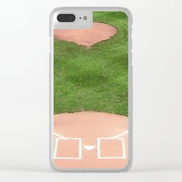 Baseball field Clear iPhone Case
