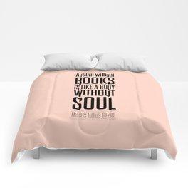Lab No. 4 - Marcus Tullius Cicero Inspirational Quotes Poster Comforters