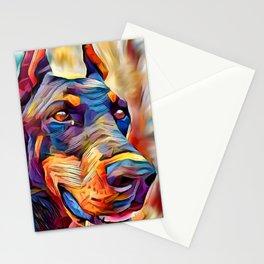 Doberman 2 Stationery Cards