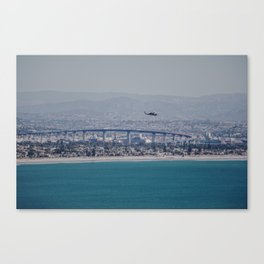 California Helicopter Canvas Print