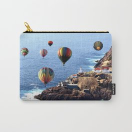 Flying Colorful Hot air Balloons over Newfoundland Carry-All Pouch